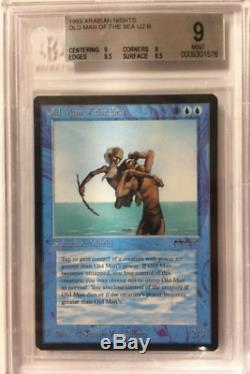 1 BGS 9 Old Man of the Sea Blue Arabian Nights MTG Magic Rare 1x x1