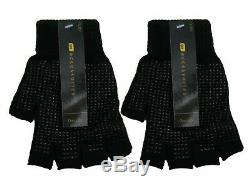 1 Mens Thermal Fingerless Gripper Palm Magic Gloves / One Size