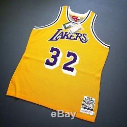 100% Authentic Clot x Mitchell & Ness Magic Johnson Lakers Jersey Size 48 XL