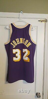 100% Authentic Magic Johnson Mitchell & Ness 84/85 Lakers Jersey Size 44 L New