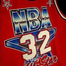 100% Authentic Magic Johnson Mitchell Ness 91 All Star Jersey Mens Size 48 XL