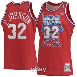 100% Authentic Magic Johnson Mitchell Ness 91 All Star Jersey Mens Size Large 44