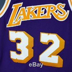 100% Authentic Magic Johnson Mitchell & Ness NBA Lakers Jersey Mens Size 40 M