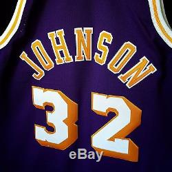 100% Authentic Magic Johnson Mitchell & Ness NBA Lakers Jersey Mens Size 44 L
