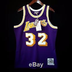 100% Authentic Magic Johnson Mitchell & Ness NBA Lakers Jersey Mens Size 48 XL