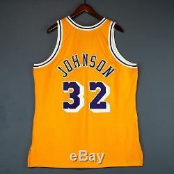 100% Authentic Magic Johnson Mitchell Ness NBA Lakers Jersey Mens Size 48 XL