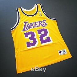 100% Authentic Magic Johnson Vintage Champion Lakers Jersey Size 44 M L Mens