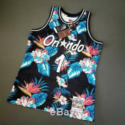 100% Authentic Penny Hardaway Mitchell Ness Floral Magic Jersey Size L 44 Mens