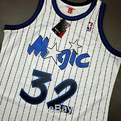 100% Authentic Shaquille O'Neal Mitchell Ness 93 94 Magic Jersey Size 44 L Mens