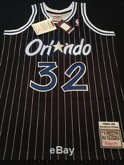100% Authentic Shaquille O'Neal Mitchell Ness 94-95 Magic Jersey Size 48 XL New