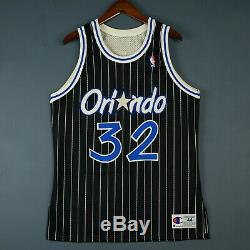 100% Authentic Shaquille O'Neal Vintage Champion Magic Jersey Size 44 M L Mens