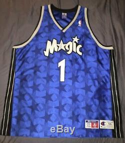 100% Authentic Tracy Mcgrady Champion Orlando Magic NBA Jersey Size 56