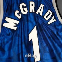 100% Authentic Tracy Mcgrady Mitchell & Ness 00 01 Magic Jersey Size 40 M Mens