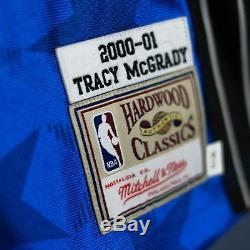 100% Authentic Tracy Mcgrady Mitchell & Ness 00 01 Magic Jersey Size Mens 36 S