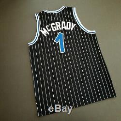 100% Authentic Tracy Mcgrady Reebok Magic HWC Jersey Size 44 L XL Mens Tmac