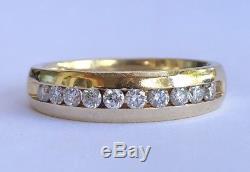 14k Yellow Gold Magic Glo 0.50 Ct Channel Set Diamonds Men's Wedding Band