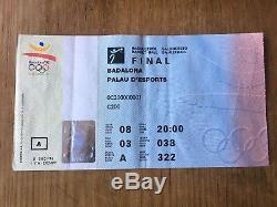 1992 Men's Olympic Basketball Final Ticket USA Michael Jordan Magic Johnson