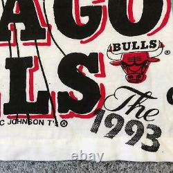 1993 Vintage CHICAGO BULLS ALL OVER PRINT T Shirt Medium Single Stitch NBA