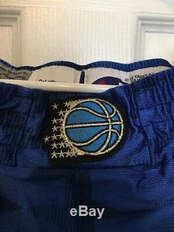1998-99 Champion Orlando Magic Game Issued Shorts Sz 40 Penny Hardaway Just Don