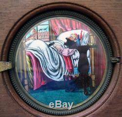 19th Century Mechanical Magic Lantern Slidesleeping Man Eats Mousehand-painted