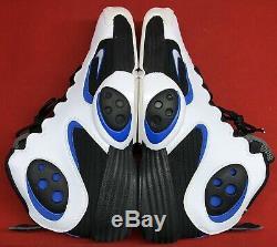 2012 Nike Flight One NRG White Black Blue Orlando Magic Penny 520502-110 Sz 10.5