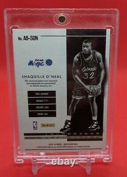 2015-16 NBA Panini Noir Logo Man Autograph Orlando Magic Shaquille O'Neal /3