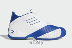 2019 Adidas T-Mac 1 Retro White Royal Blue Size 13. EE6844 Tracy McGrady Magic