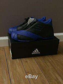 2019 Adidas TMAC 1 Tracy McGrady Black/Royal Blue Sz. 9.5 Magic Retro