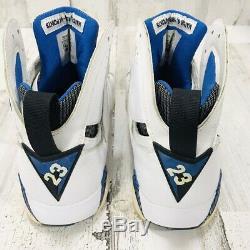 304775-161 Air Jordan Retro VII 7 Orlando Magic White Royal Black Men Size 8.5