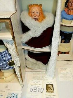 4 Set Franklin Mint WIZARD OF OZ Heirloom Dolls, Dorothy Scarecrow Lion Tin Man