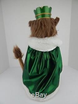 4 Steinbach Nutcrackers From Wizard of Oz Lion Tin Man Wicked Witch Scarecrow