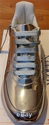 $590 Mens Alexander McQueen Magic Mirror Chunky Sneakers Platinum 43.5 US 10.5