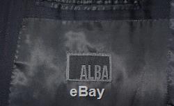 ALBA Bespoke Suit Men 46 XL Black Stripe Magic Johnson Tailored 41W 11/3/14