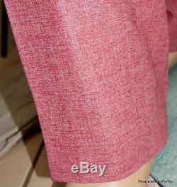 ALBA Bespoke Suit Mens 46 XL Red Linen Magic Johnson Hand Tailored 42W 7/23/15