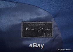 ALBA Bespoke Suit Mens 48 XL Blue Magic Johnson 2Btn Hand Tailored 4/27/2015