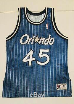 AUTHENTIC Champion BO OUTLAW Orlando Magic Jersey 44 NBA Signed Arenas COA Shaq