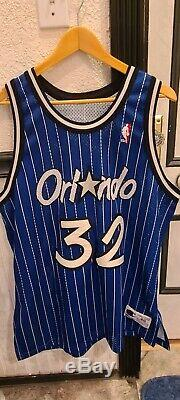 Authentic 90s NBA Champion Orlando Magic Shaquille O'Neal Jersey 48 SEWN 32 Shaq