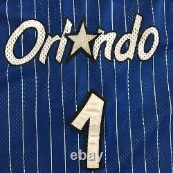 Authentic Champion PENNY Hardaway Orlando Magic Blue Pinstripe Sewn Jersey 44 L