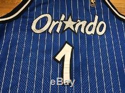Authentic Gold Logo Penny Hardaway Size 48 Orlando Magic Champion Jersey