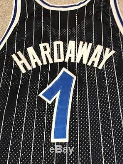 Authentic Mens Champion Orlando Magic #1 Penny Hardaway Stitched Jersey 48