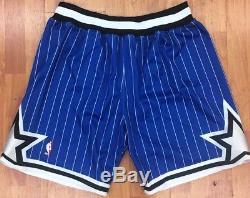 487f7f65a051 Authentic Orlando Magic Mitchell   Ness NBA Men s Basketball Shorts Royal  Blue
