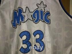 Authentic Reebok Orlando Magic Grant Hill # 33 White Stars Design Jersey SZ 56