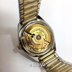 BULOVA Automatic Set-o-Magic Dual-Date 1970 Yellow Gold & Steel Men's Watch