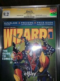 CGC SS 9.2 Wizard #1 Spider-Man Cover signed by TODD MCFARLANE