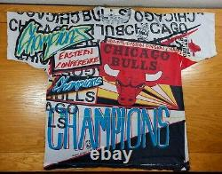 CHICAGO BULLS Vintage 1992 Magic Johnson T's NBA T-Shirt Men's XL SOLD AS IS