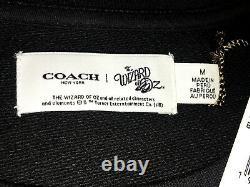COACH WIZARD OF OZ SWEATER Size M BLACK 100% Cotton Sweatshirt CREWNECK Men $295