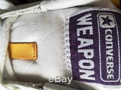CONVERSE WEAPON Low mens SHOES LAKERS MAGIC JOHNSON sz 10 RARE vintage lonzo