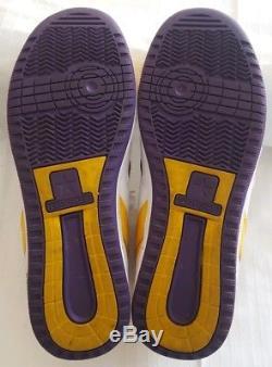 Converse WEAPON Men's Purple Yellow Leather Sneaker Lakers Magic Johnson 10