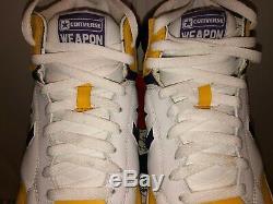Converse Weapon High Size 10 Gold White Purple 2002 Magic Johnson Lakers Vintage