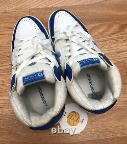 Converse Weapon High Top Sneakers Sz 10.5 Mens Blue Larry Bird Magic Basketball